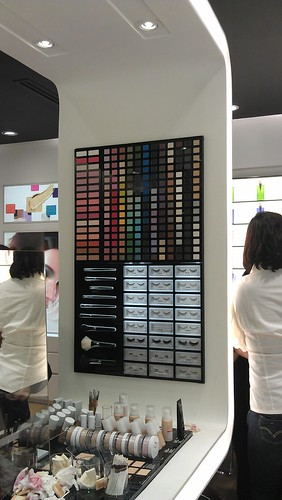 I love this Color wall at Shu Uemura Trinoma