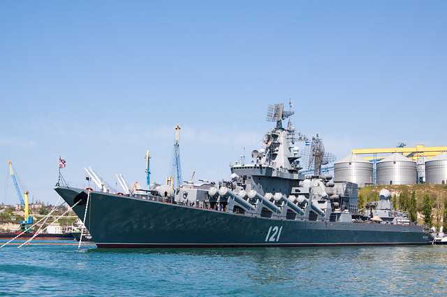 "Russian Guided Missile Cruiser 121 ""Moskva\"""