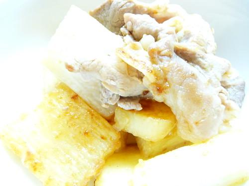 豚肉と長芋のポン酢炒め