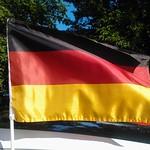 Auf ein Neues! German flag on a car, Deutschlandflagge. Fußball,  Flagge von Deutschland