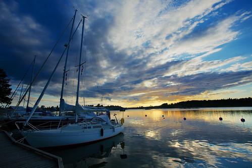 sunset sea sky seascape water canonef1740mmf4l eckerö guestharbour käringsundby vierassatama