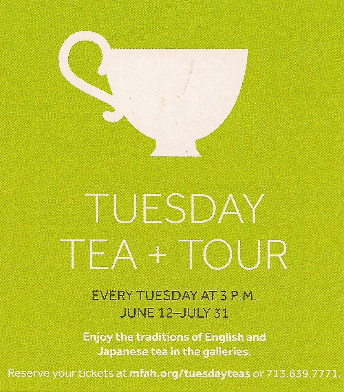 Tuesday Tea And Tour