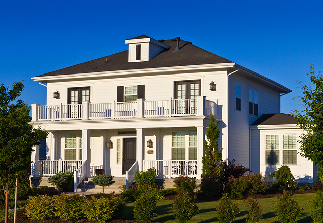 Modern white colonial style luxury home flickr photo for Contemporary colonial architecture