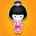 New Kawaii Kokeshi (Pink)