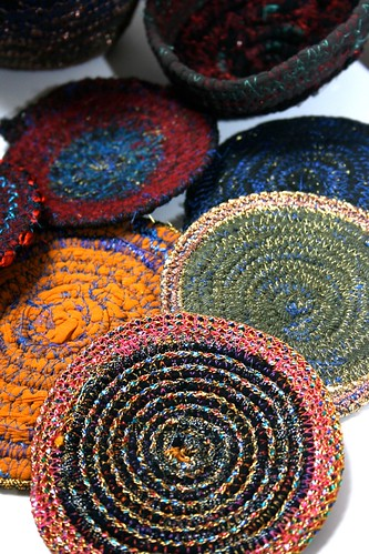 Ideas for sewing projects - coasters - creative textiles - textiles work