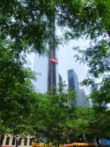 WTC 1 im Bau