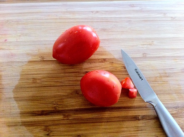 Coring Roma Tomatoes
