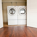 Hit pause on your streaming to throw in a load of laundry in your in-unit washer and dryer.