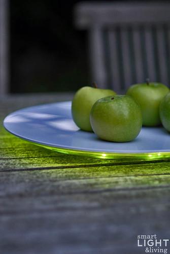 Beleuchtung led, Serie-Sommerlich t Apfel auf LED-Licht-Teller Lumi…
