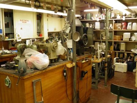 Sewing machine repair area