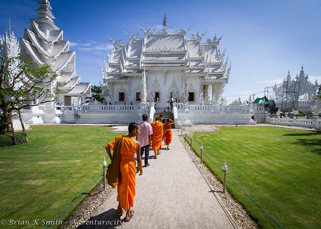 Wat Rong Khun (White Temple) Monks, Chiang Rai