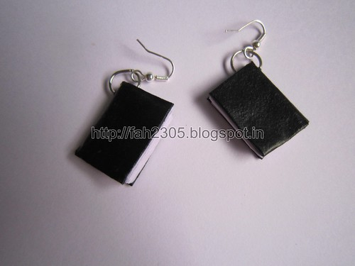 Handmade Jewelry - Paper Book Earrings (1) by fah2305