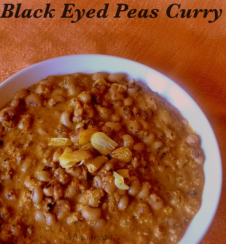 Mysoorean: Black Eyed Peas Curry - Konkani Style