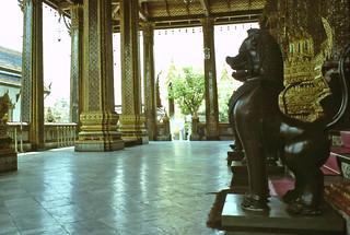 Reception area inside Emerald Buddha temple