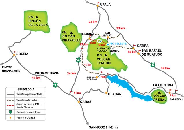 Mapa de la zona y cómo llegar al Parque Nacional Volcán Tenorio río celeste, colorido capricho de la naturaleza - 7568974356 be0dd6635a o - Río Celeste, Colorido capricho de la Naturaleza