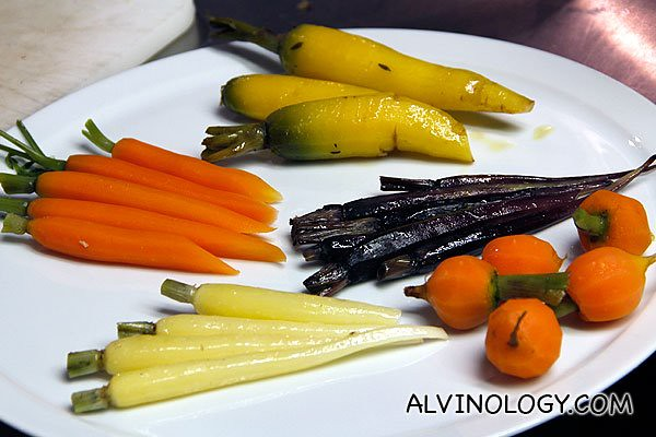 Beautiful selection of assorted carrots