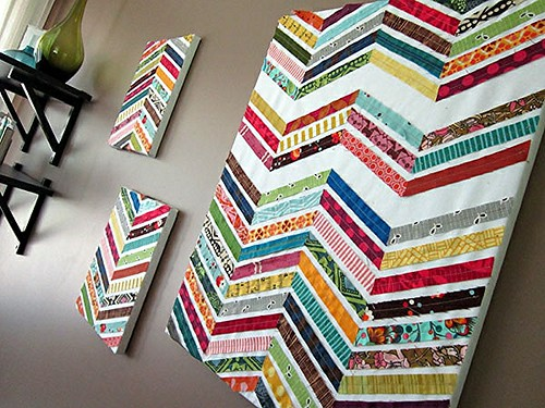Scrappy Chevrons wall art
