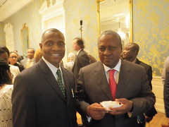 Afripol's Emeka Chiakwelu and Ghana President John Mahama