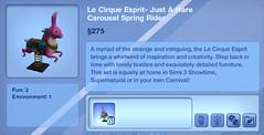 Le Cirque Esprit- Just A Hare Carousel Spring Rider