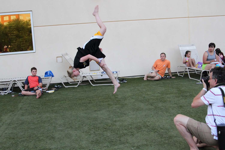 Flexible girl split