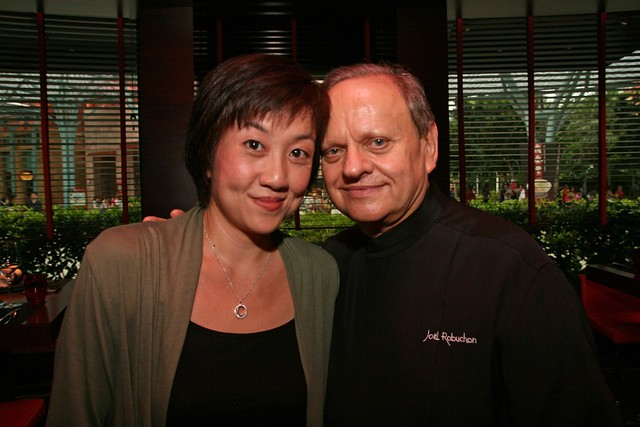 Third time meeting Joël Robuchon in Singapore