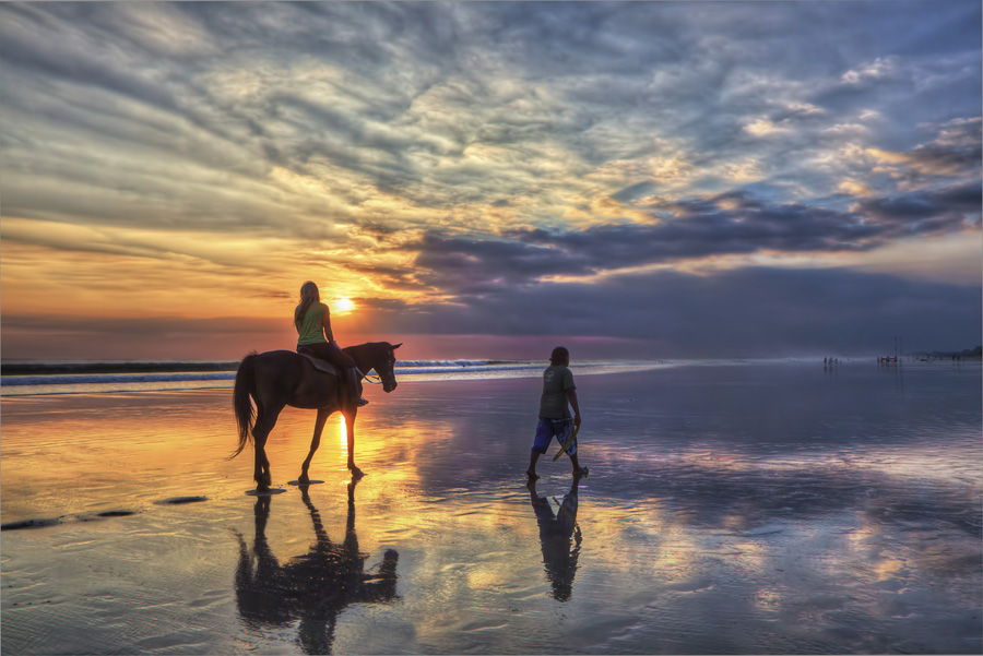Girl riding a horse at sunset on Bali | Flickr - Photo ... Horseback Riding On The Beach Photography