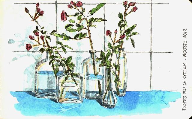 Rosas en mi cocina