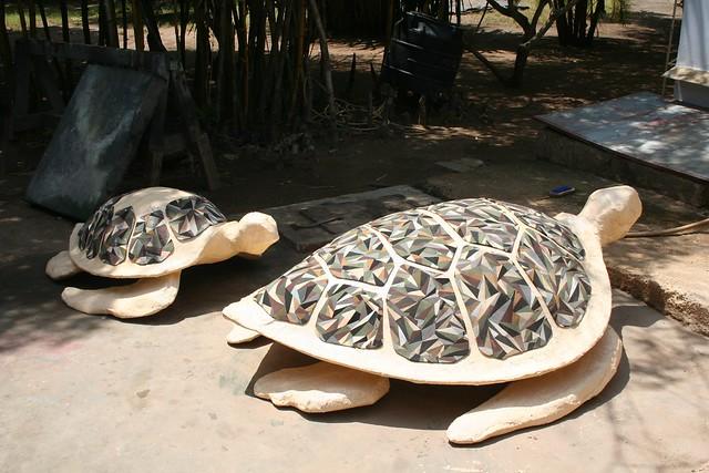 Flipflop Turtle Sculptures for Amani Tiwi Beach Hotel