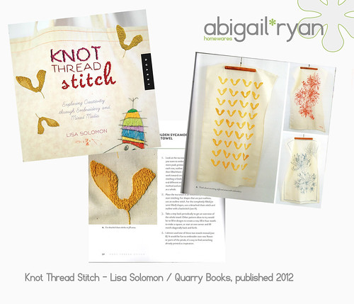 abigail*ryan featured in Lisa Solomon's book Knot Thread Stitch...
