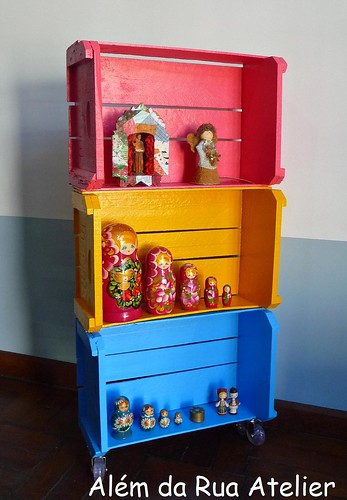 Como fazer armário com caixotes