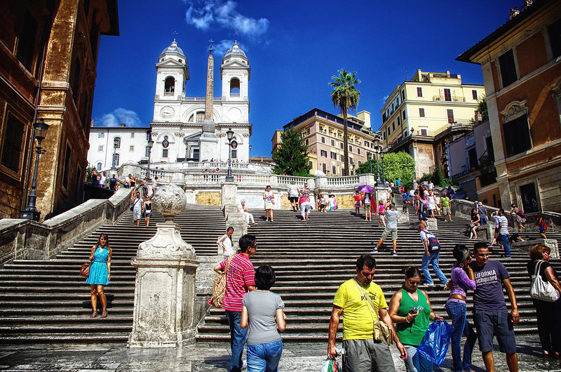 Italy Rome Spanish Steps August 2012