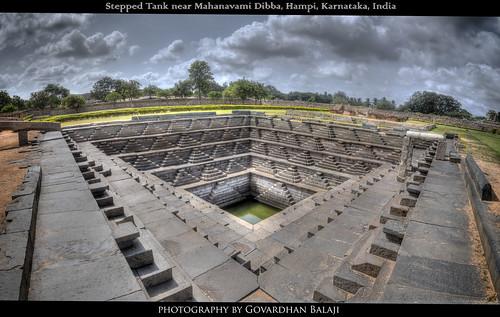 HDR Panorama- Pushkarni, Hampi, Karnataka, India