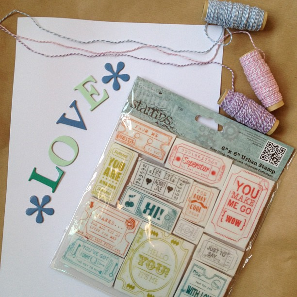 I'm going to try and create something using these #alphabet #letters #yarn #thread #rubberstamps #card #urbanstamps