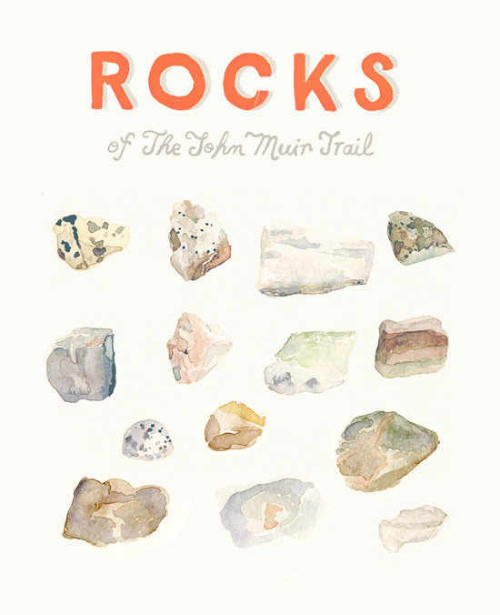 rocks of the jmt