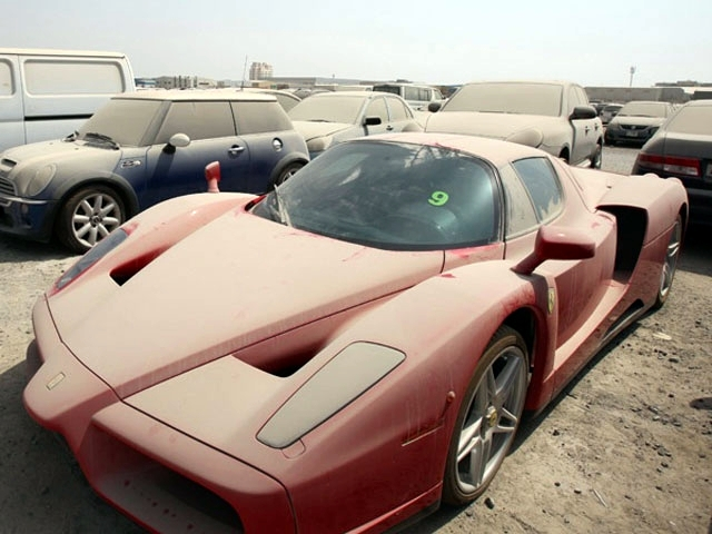 So In Dubai The Number Of Abandoned Luxury Cars Lying Around Is
