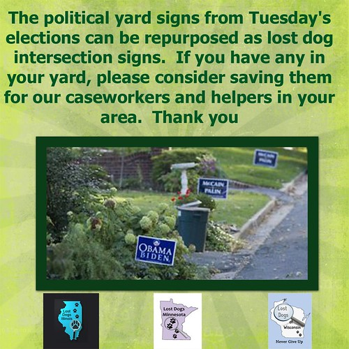 Recycle Your Campaign Signs!!