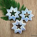 Salt Dough Snowflake Christmas Ornaments