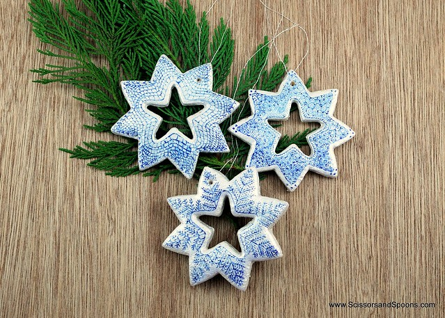 DIY Salt Dough Snowflakes