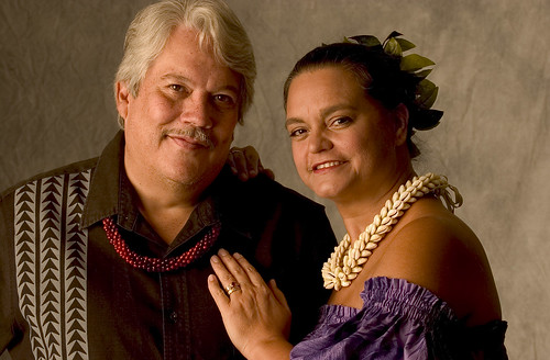 Keola Beamer with Moanalani Beamer (his wife and partner) / Maui Arts and Cultural Center