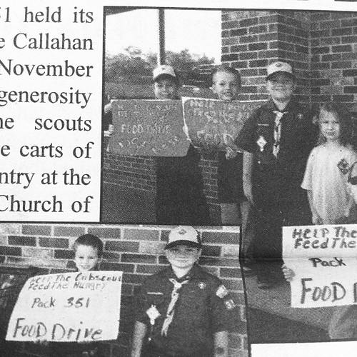 In other news, my Jonah was in the local newspaper again. He and Cub Scout pack collected food and money for a local church's food pantry. So proud of Jonah and the fellow scouts in our area!!!