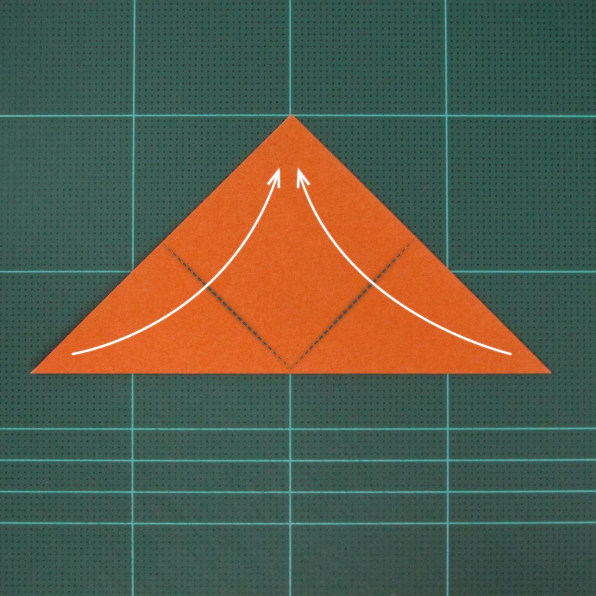 วิธีพับกระดาษเป็นสุนัขจิ้งจิกแบบง่าย (Simple Origami Fox) 002