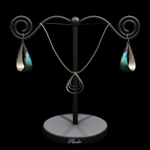 [NEW ON SALE!] *P* Teardrop MESH Jewelry Set ~Gina Teal~