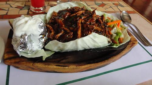 Chicken malacca sizzler