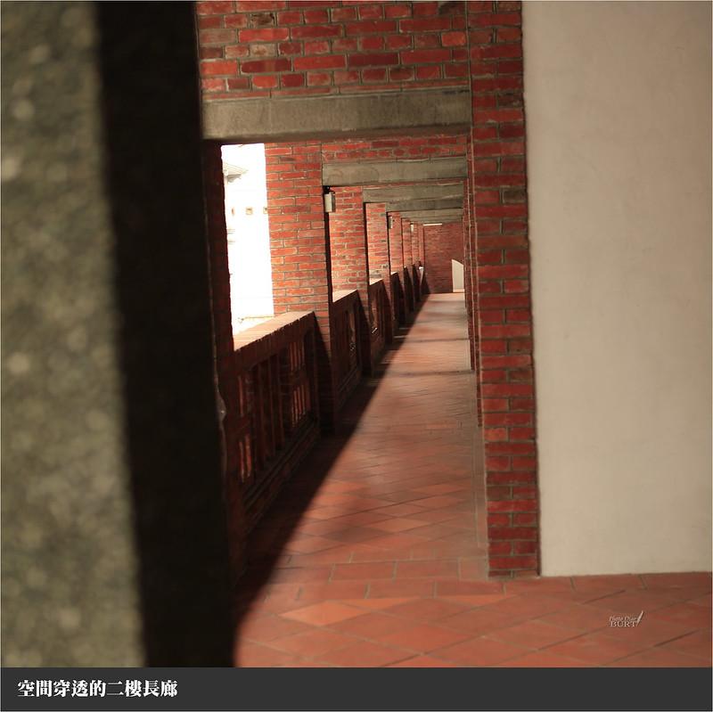 空間穿透的二樓長廊