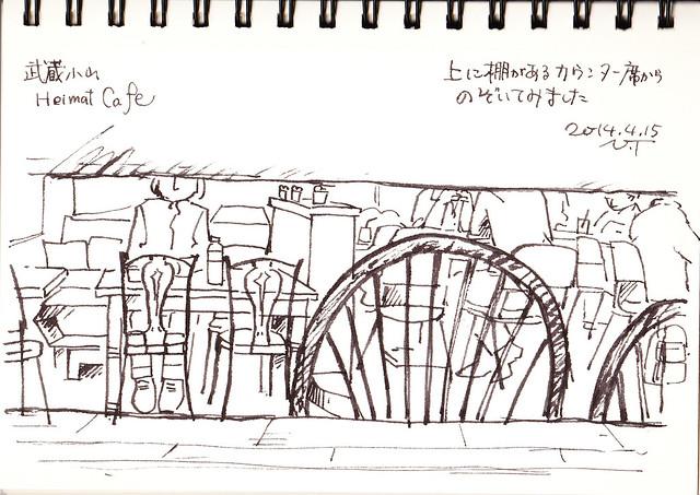 武蔵小山ハイマットカフェのカウンターからの眺め