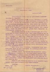III/1. Feljelentés zsidótörvény kijátszásával kapcsolatban.