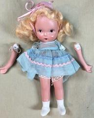 "Nancy Ann Storybook Doll ""Goldilocks"" gets her arm repaired"