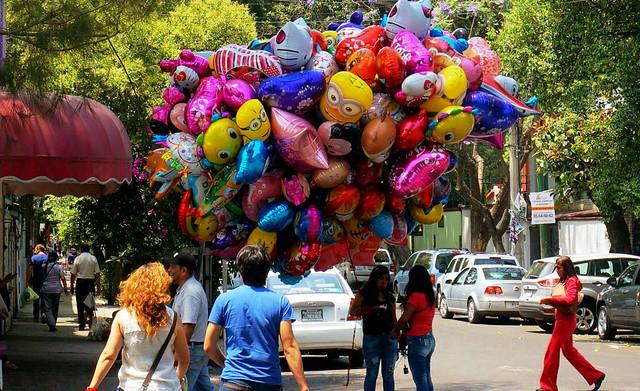 Balloons in  Coyoacán