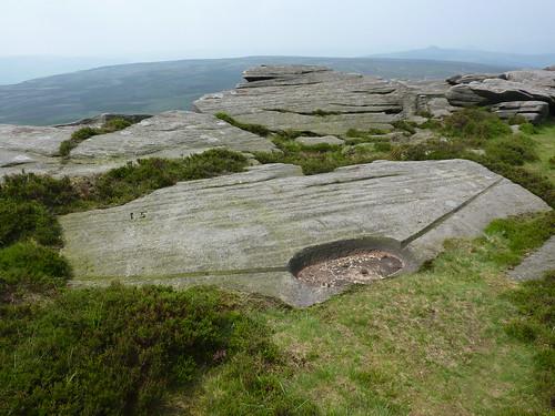 Gritstone Rocks on Stanage Edge