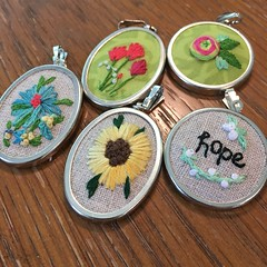 New pendants and packaging with old button cards